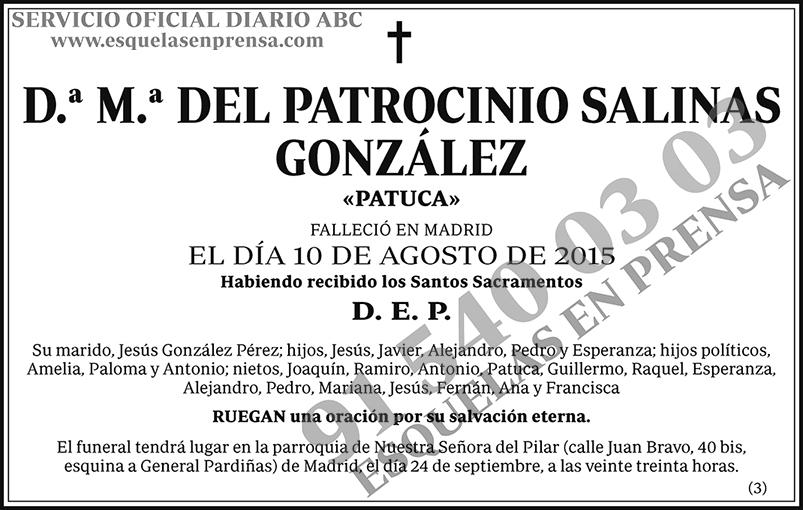 M.ª del Patrocinio Salinas González